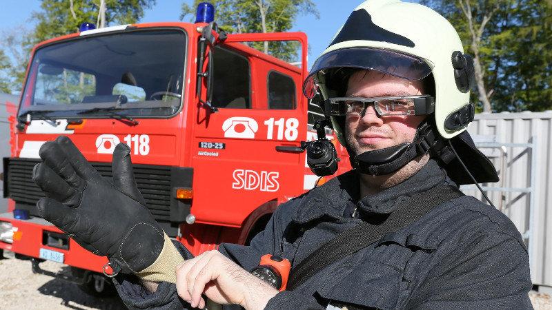 Un casque de réalité augmentée pour les pompiers