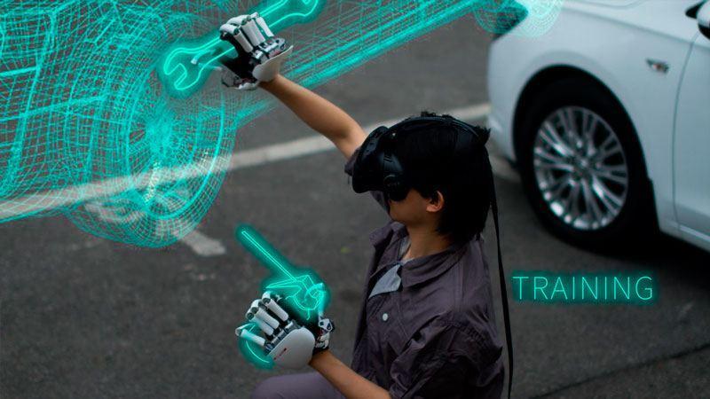 Un gant à retour de force pour la VR et l'AR