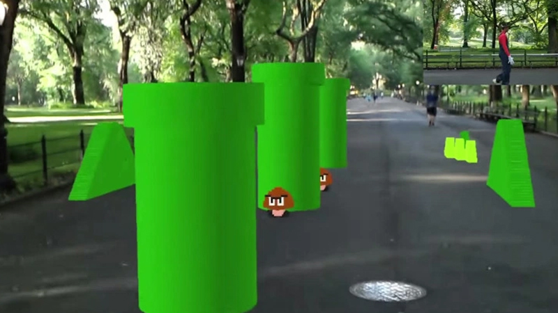 Super Mario Bros maintenant en réalité augmentée ?