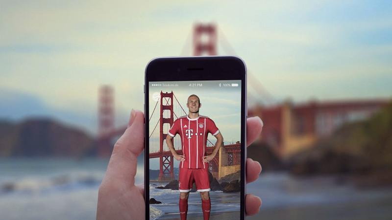 Sympa : les joueurs du Bayern Munich en réalité augmentée!