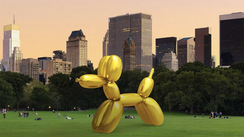 Snapchat x Jeff Koons : des sculptures en réalité augmentée