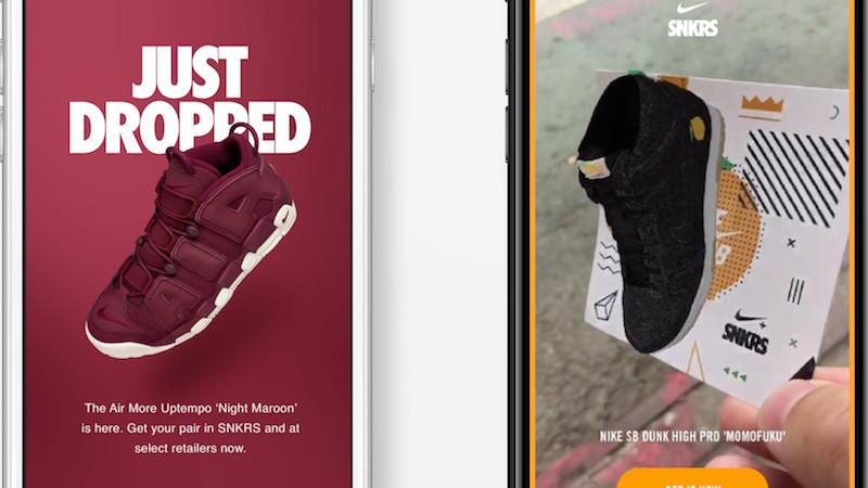 Nike vend ses sneakers grâce à la réalité augmentée