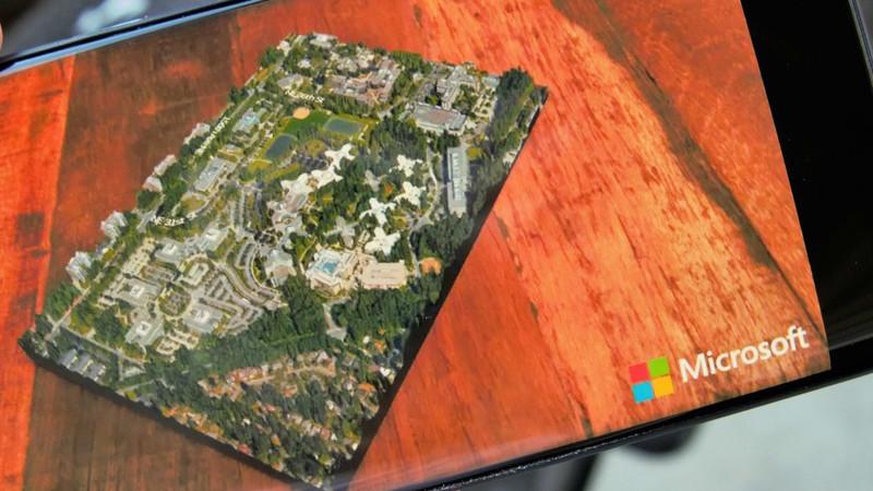 Visualisez le campus de Microsoft en réalité augmentée
