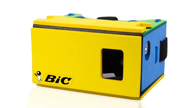 BIC lance un premier casque de réalité virtuelle jetable !