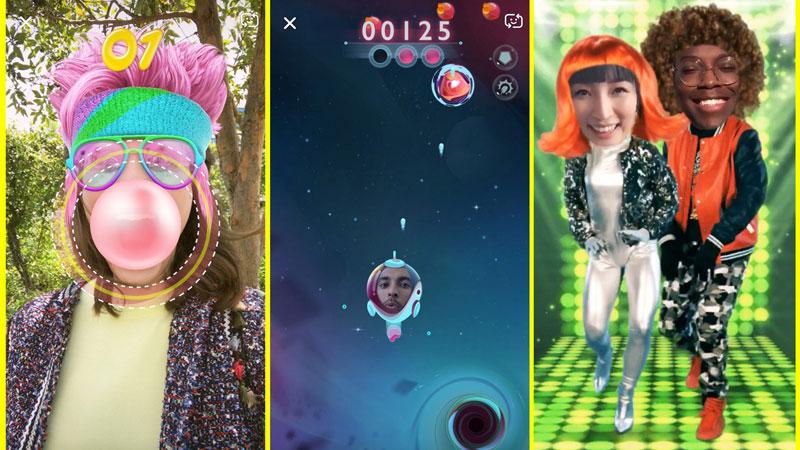 Snappables : les nouveaux jeux Snapchat en AR !