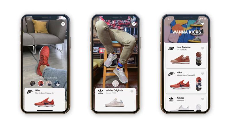 Wanna Kicks, une application pour essayer des chaussures en AR !