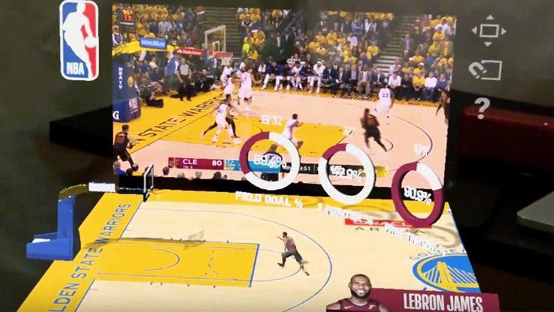 Des matchs NBA en réalité augmentée sur Magic Leap !